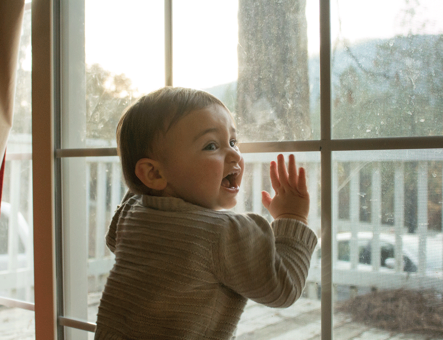 baby-standing-against-glass-door-family-photography